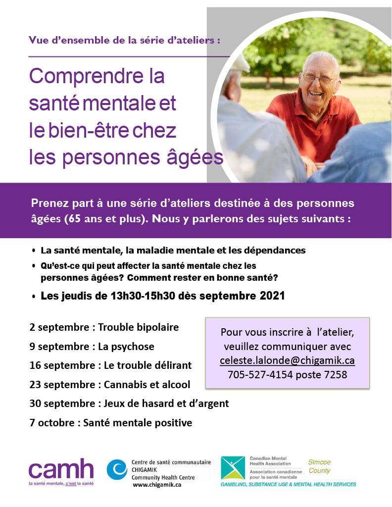 Comprendre la santé mentale et le bien-être chez les personnes âgées